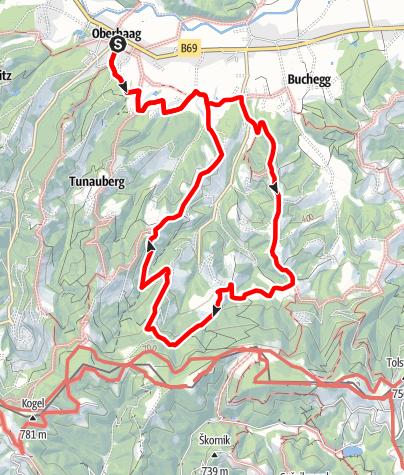 Karte / Oberhaager Wege - Kapellenweg