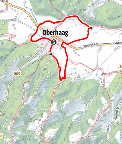 Karte / Oberhaager Wege - Dorf-Rundweg