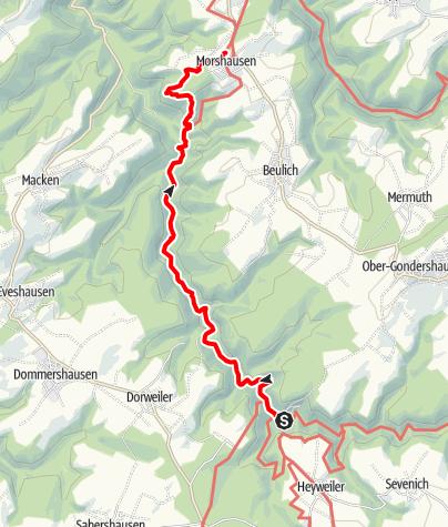Karte / Saar-Hunsrück-Steig - 22. Etappe: Schmausemühle - Morshausen