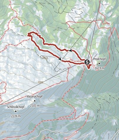 Karte / Auf der Märli Alp bei Bad Ragaz