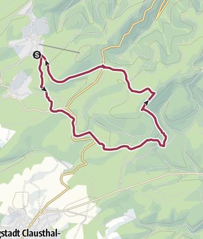 Karte / Festenburg - Rundwanderweg Hahnenklee - Festenburg - Hahnenklee