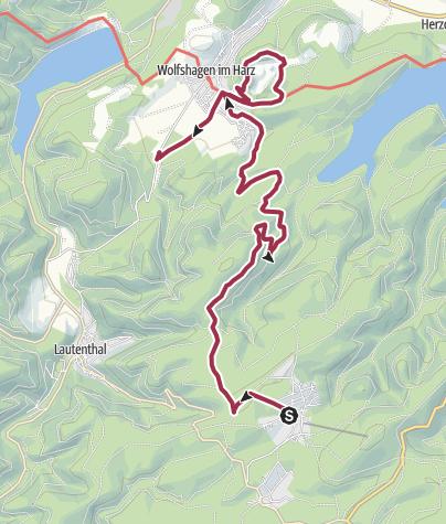 Karte / Wolfshagen im Harz - Rundwanderweg Hahnenklee nach Wolfshagen