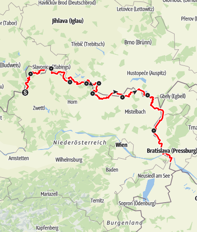Karte / Iron Curtain Trail - EuroVelo 13