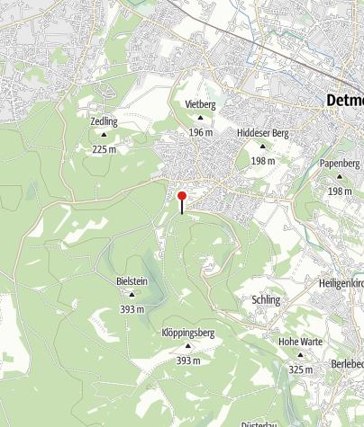 Kaart / Grillplatz Mufflonkamp Hiddesen