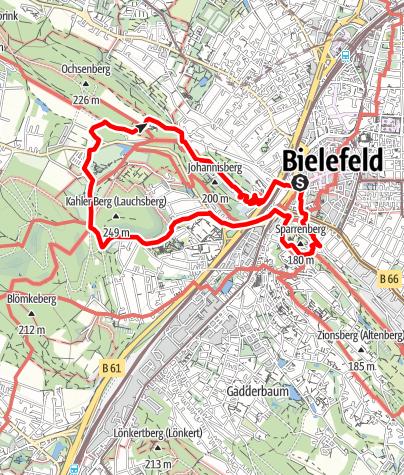 Karte / Hermannshöhen Tourentipp 10:  Von Burg zu Berg