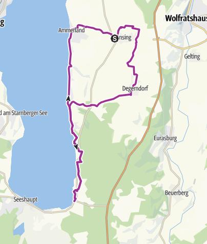 Karte / Familien-Radtour von Münsing an die Sonnenseite des Starnberger Sees