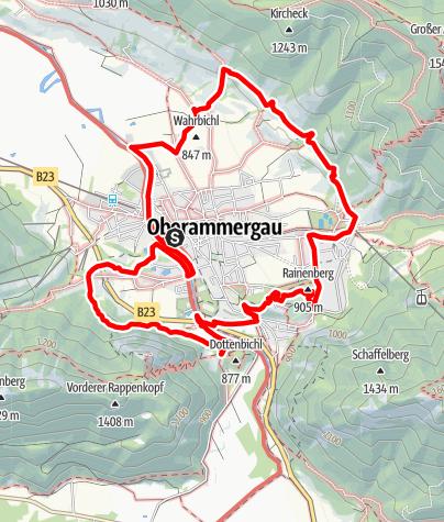 Karte / Wanderung - Oberammergauer Rundweg
