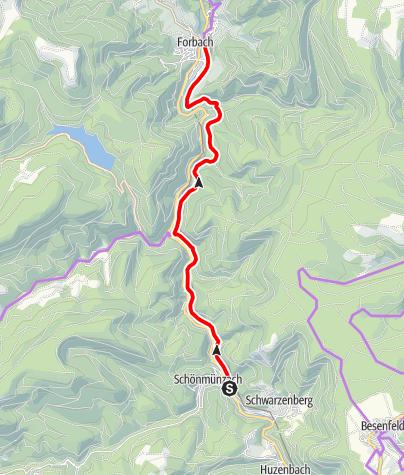 Karte / NaTour - Ein Stückchen Tour de Murg