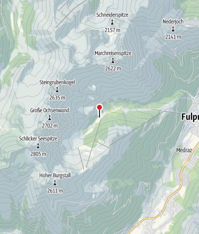Karte / Hüttentaxi Schlickeralm - Haltestelle Schlickeralm