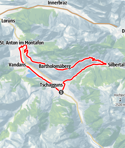Kaart / Bartholomäberg - Silbertal Runde (Mit dem Rennrad auf dem Sonnenbalkon Bartholomäberg)