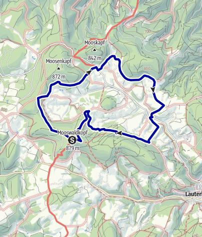 Karte / Lauterbacher Hochtalrunde im Wanderparadies Alb - Schwarzwald