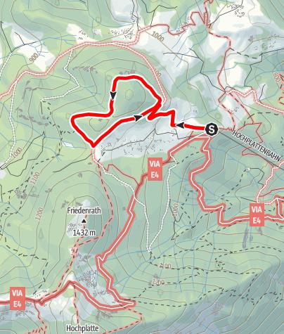 Karte / Bergwalderlebnisweg Staffen