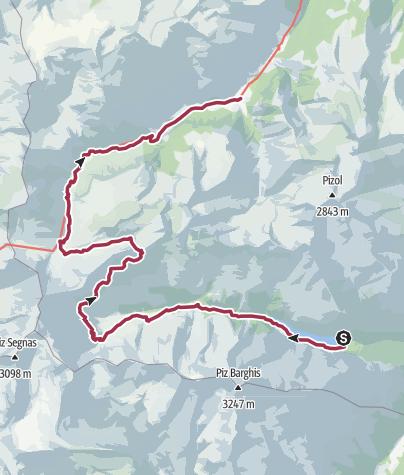 Karte / Route Calfeisental – Weisstannental