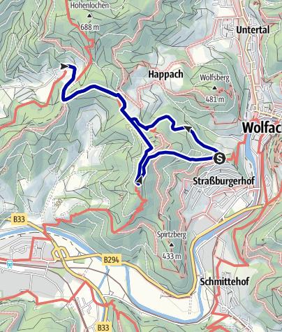 Karte / NaTour zum Käppelehof bei Hausach