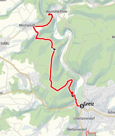 Karte / Elsterperlenweg – Etappe 1