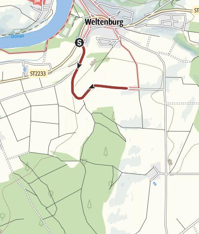 Map / Barrierefrei: Blick auf das Donautal bei Weltenburg