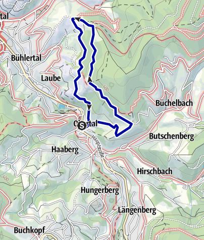 Karte / NaTour am Engelsberg in Bühlertal