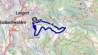 Karte / NaTour in der Gaishöllschlucht bei Sasbachwalden