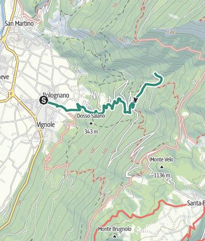 Map / To the Hermitage Eremo di San Giacomo, a panoramic terrace overlooking Alto Garda