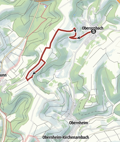 Karte / Oberarnbach Erdgaslehrpfad