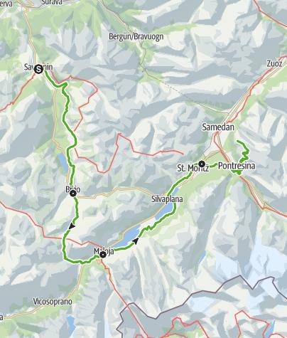 Karte / 25 Senda Segantini (4 Etappen)