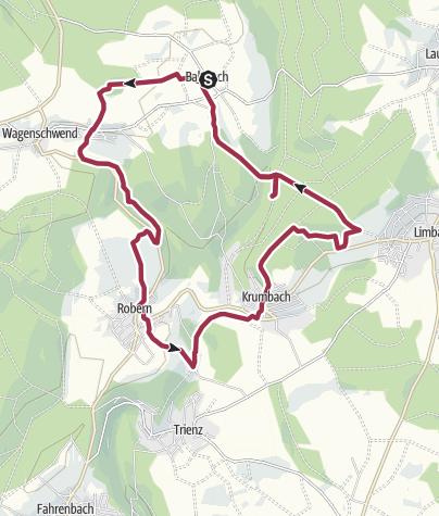 Karte / Rund um den Steinbusch