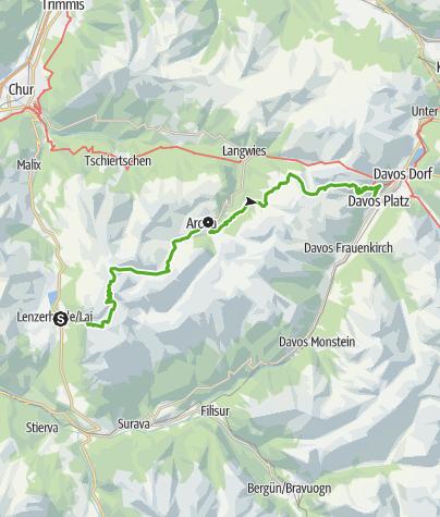 Kaart / 54 Mittelbünden Panoramaweg (2 Etappen)