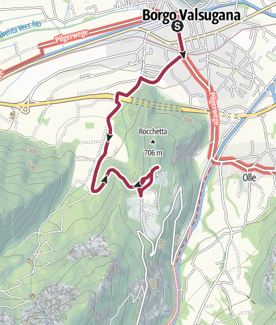 Kaart / Trekking La Rocchetta - vanaf Località Piagaro