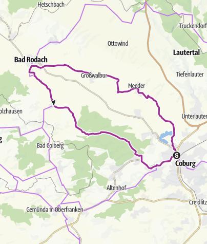 Karte / Tour 19 - Coburger Friedensfahrt