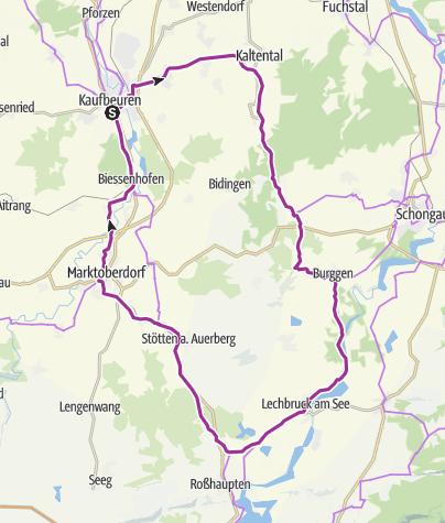 Karte / Dampflok-Runde Schlosspark