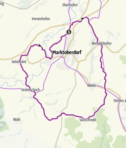 Karte / Oberdorfer Radlrunde Schlosspark