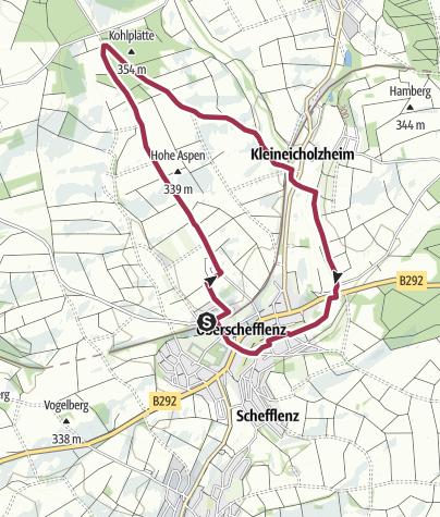 Karte / Hohes-Kreuz Weg