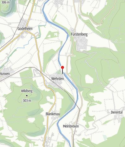 Kaart / Gierseilfähre Wehrden