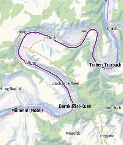 Karte / Mosel-Radweg Etappe 7: Von Bernkastel-Kues bis Traben-Trarbach