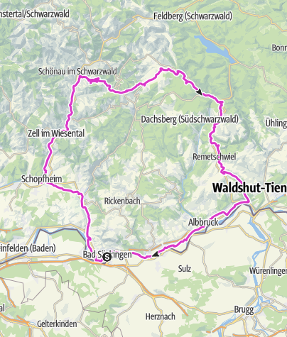 "Karte / Bad Säckingen: Rennrad-Tour ""Durch den wilden Südschwarzwald"""