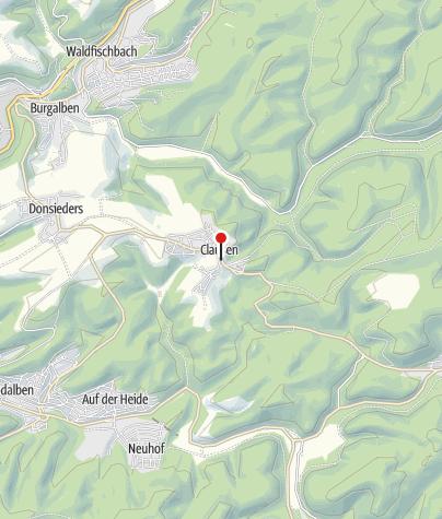Map / Ortskern Clausen mit Hawebrunnen