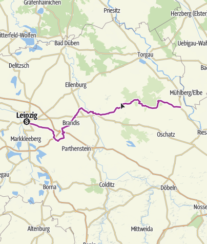 Map / Leipzig-Elbe Cycle Route – Saxon Countryside at Its Best