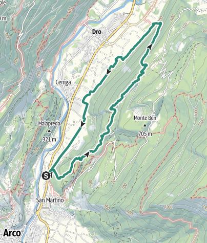"""Map / """"Sentiero della Maestra"""", The Teacher's Trail in the heart of the Sarca Valley"""