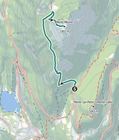 Karte / Auf dem Gipfel des Monte Misone