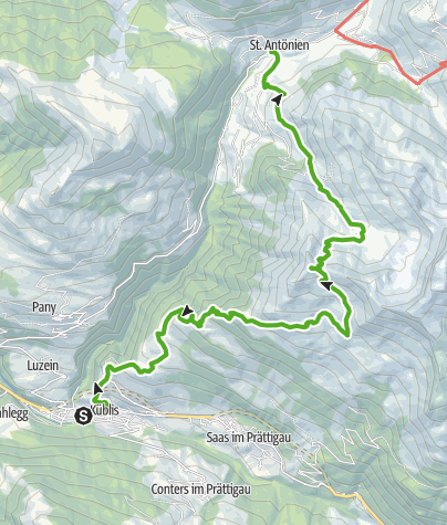 Karte / Gipfel-Tour zum Jäglisch Horn