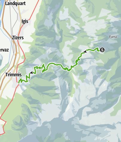 Karte / Partenzer Trek Etappe 3 (Furna - Obersays/Trimmis)