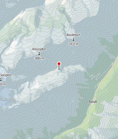 Mapa / Neue Regensburger Hütte