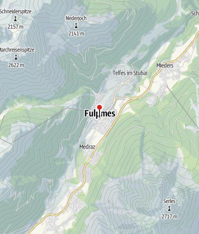 Karte / TVB Stubai Tirol - Büro Fulpmes
