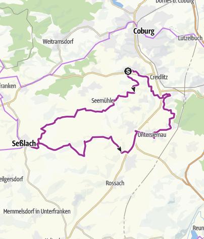 Karte / Tour 21 - 5 Schlösser Tour