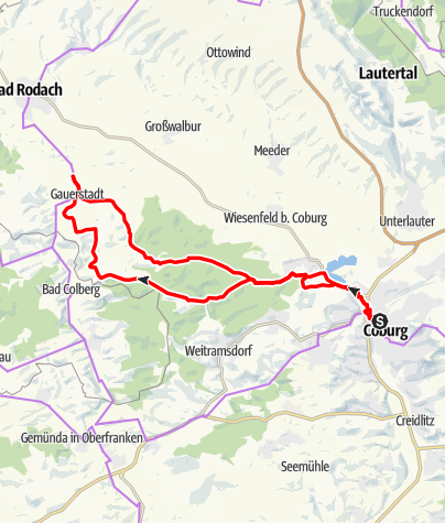 Karte / Tour 22 - Waldlust Tour
