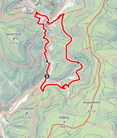 Karte / Genießerpfad - Klösterle-Schleife