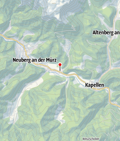 Karte / Naturbadeteiche Urani im Naturpark Mürzer Oberland