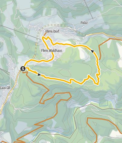 Karte / 245 Flimserwald Rundtour