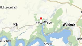 Karte / Nieder-Werbe