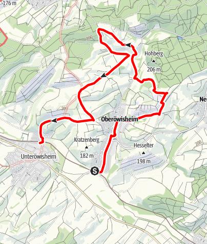 Karte / Oberöwisheimer Hohlweg-Tour